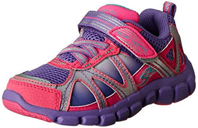 Stride Rite Little Kids Girls Racer Light-Up Starpower Running Sneaker Shoes, Pink