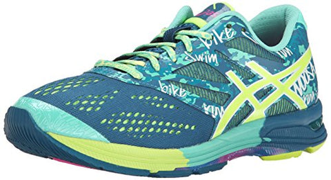 Asics Women's Gel-Noosa Tri 10 Running Shoes Sneakers - Blue / Teal / Yellow