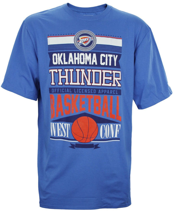 Zipway NBA Basketball Men's Big & Tall Oklahoma City Thunder Graphic T-Shirt, Blue