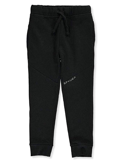 Spyder Boys Youth Saddle Fleece Joggers Black