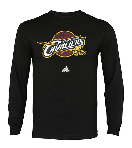 Adidas NBA Men's Cleveland Cavaliers Full Primary Logo Long Sleeve Tee Shirt