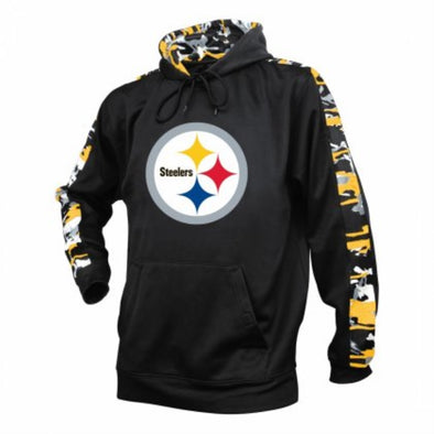 Zubaz NFL Men's Pittsburgh Steelers Pullover Hoodie with Camo Print