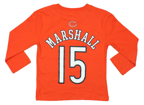 NFL Kids Chicago Bears Brandon Marshall #15 Long Sleeve Mainliner Shirt - Orange