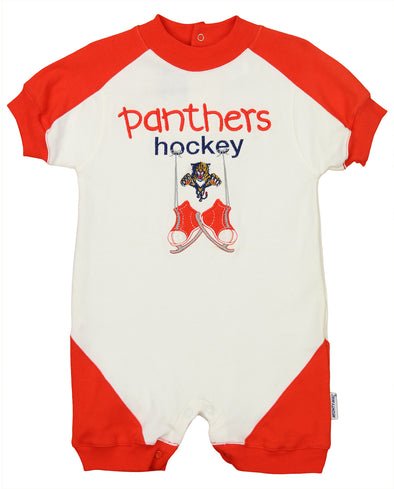 Florida Panthers NHL Baby Boys Infant Vintage Skates Romper, White