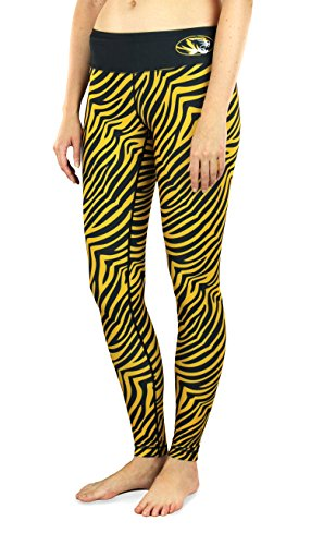NCAA Women's Missouri Tigers Thematic Print Leggings, Black