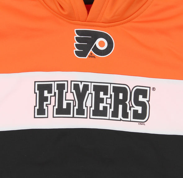 NHL Youth Philadelphia Flyers Performance Pullover Hoodie, Orange