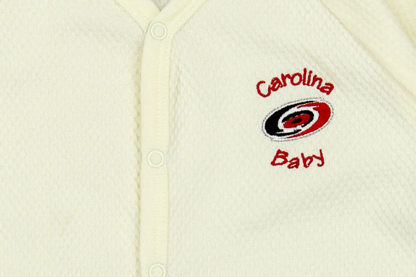 NHL Infant Carolina Hurricanes Textured Sleeper Pajamas, Cream