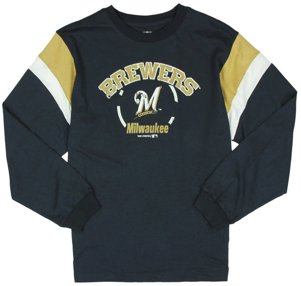 MLB Baseball Kids / Youth Milwaukee Brewers Vintage Shirt - Navy Blue