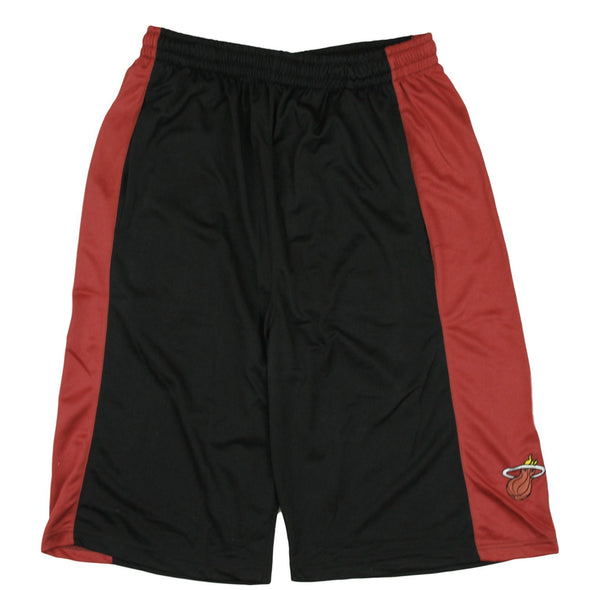 Zipway NBA Big Men's Miami Heat Team Color Basketball Shorts, Black