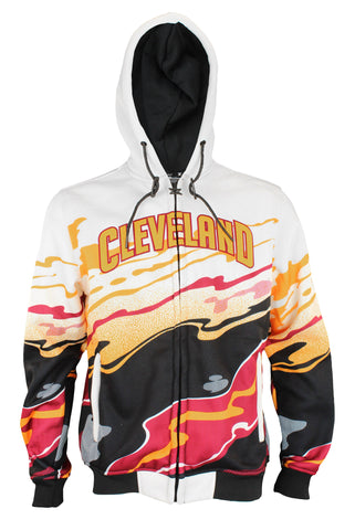 Zipway NBA Men's Cleveland Cavaliers Hot Lava Full Zip Fleece Hoodie, White