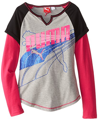 Sports Lifestyle by PUMA Kids / Youth Girls Cuffed Raglan Slider Layered Shirt