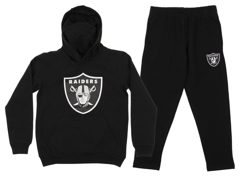 Outerstuff NFL Youth Oakland Raiders Team Fleece Hoodie and Pant Set