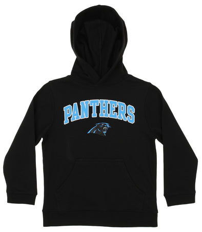 OuterStuff NFL Youth Boys Team Color Fleece Hoodie, Carolina Panthers