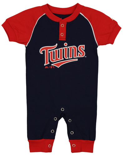 "Majestic MLB Infant Minnesota Twins ""Game Time"" Coverall"