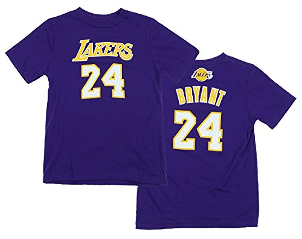 28cd1393e7d NBA Youth Los Angeles Lakers Kobe Bryant  24 Gametime Player Shirt ...