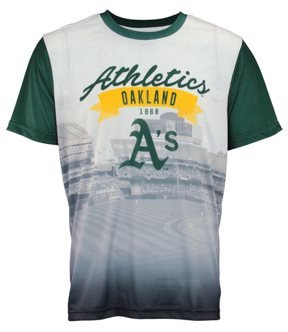 Forever Collectibles MLB Men's Oakland Athletics Outfield Photo Tee