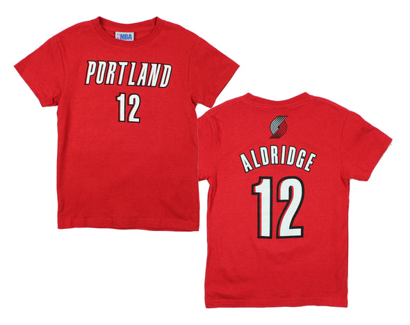 NBA Kids / Youth Portland Trail Blazers LaMarcus Aldridge #12 Tee Shirt - Red