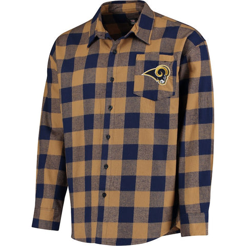 ce521a8df Forever Collectibles NFL Men Los Angeles Rams Check Long Sleeve Flannel  Shirt