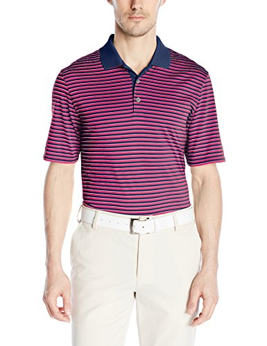 adidas Golf Men's Performance 3-Color Stripe Polo Short Sleeve Shirt, Several Colors
