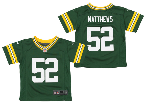 Nike NFL Kids (4-7) Green Bay Packers Clay Matthews #52 Game Day Jersey -