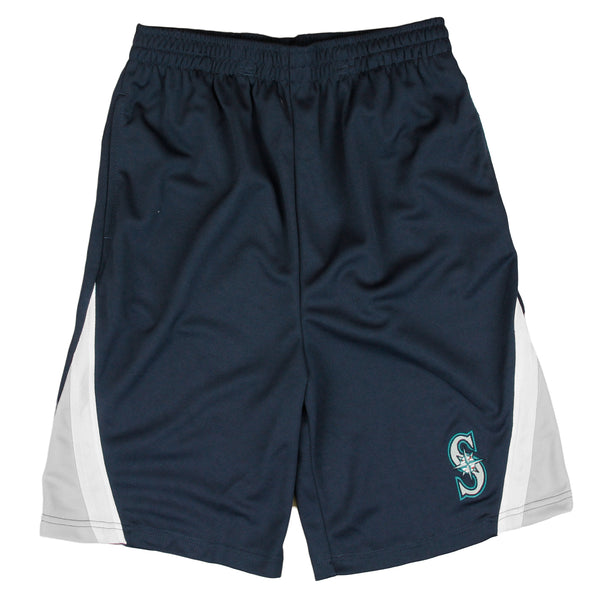 MLB Baseball Kids / Youth Seattle Mariners Logo Shorts - Navy Blue