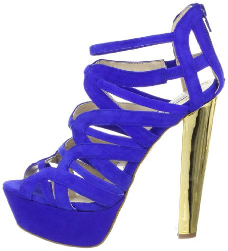 Steve Madden Dysert Women's Fashion Heels Shoes, Blue Suede