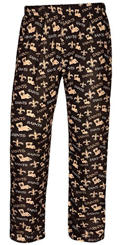 1cf20e13 Forever Collectibles NFL Men's New Orleans Saints Repeat Print Logo Comfy  Pants
