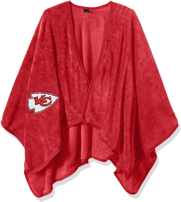 The Northwest Company NFL Adult Kansas City Chiefs Silk Touch Throw Blanket Wrap with Applique