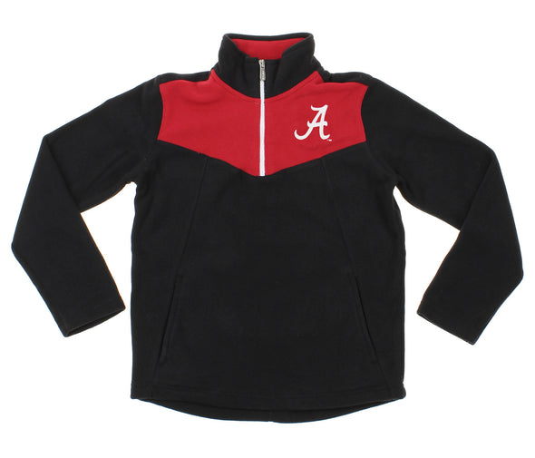 NCAA Youth Alabama Crimson Tide Break Point 1/4 Zip Pullover Sweater, Black
