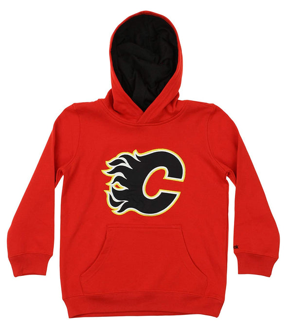 Reebok NHL Youth Calgary Flames Prime Basic Hoodie, Red