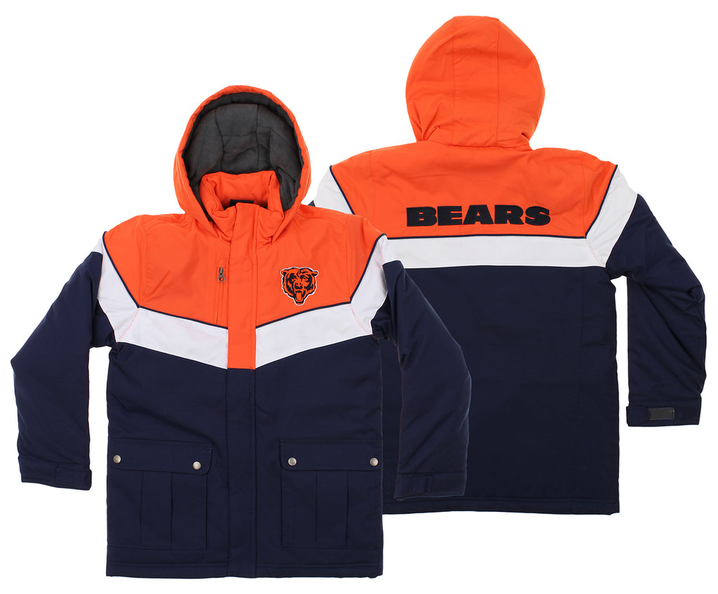 buy online 09954 26cfd OuterStuff NFL Youth Chicago Bears All American Parka Jacket, Navy
