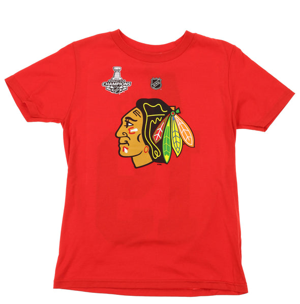 NHL Kids Chicago Blackhawks Jonathan Toews #19 Player Tee, Red