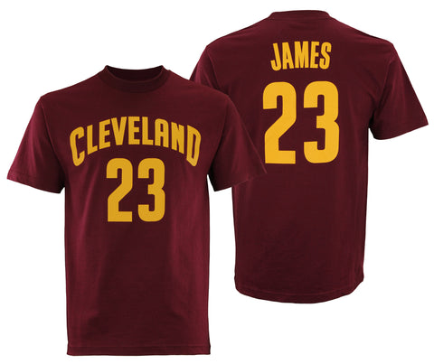 Adidas NBA Men's Cleveland Cavaliers LeBron James #23 Mass Replica Tee Shirt