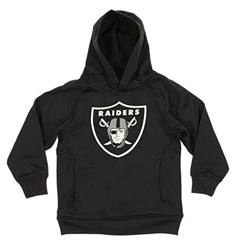 OuterStuff NFL Youth Boys Oakland Raiders Logo Pullover Sweatshirt Hoodie