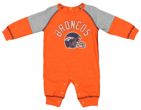 Outerstuff NFL Infants Denver Broncos Heritage Coverall, Orange
