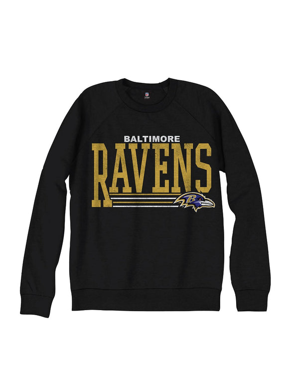 Baltimore Ravens NFL Men's Fundamentals French Terry Crew Sweatshirt, Black