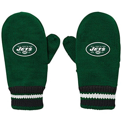 Outerstuff NFL Youth (8-20) New York Jets Team Mittens, Green, OSFM