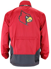 Genuine Stuff NCAA Men's Louisville Cardinals Stealth Full Zip Pack Away Jacket