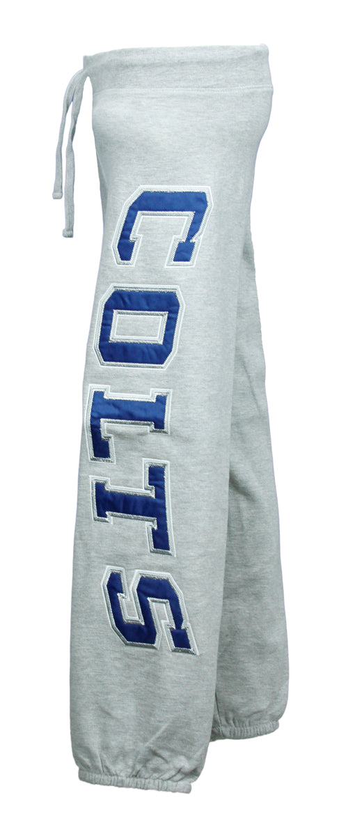 NFL Team Apparel Indianapolis Colts Girls Heathered Fleece Pants