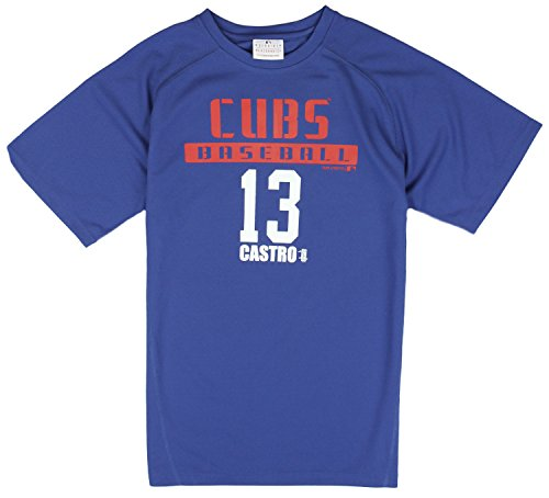 MLB Kids / Youth Chicago Cubs Starlin Castro # 13 Baseball Shirt - Blue