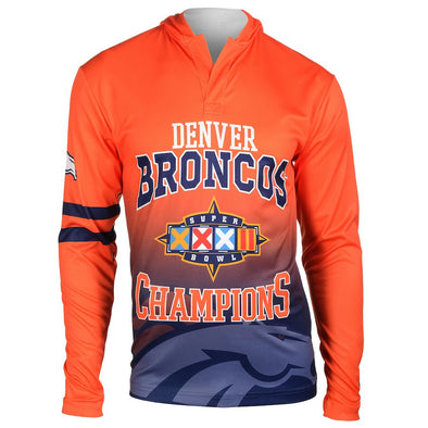 Forever Collectibles NFL Men's Denver Broncos Super Bowl Champions Hooded Tee