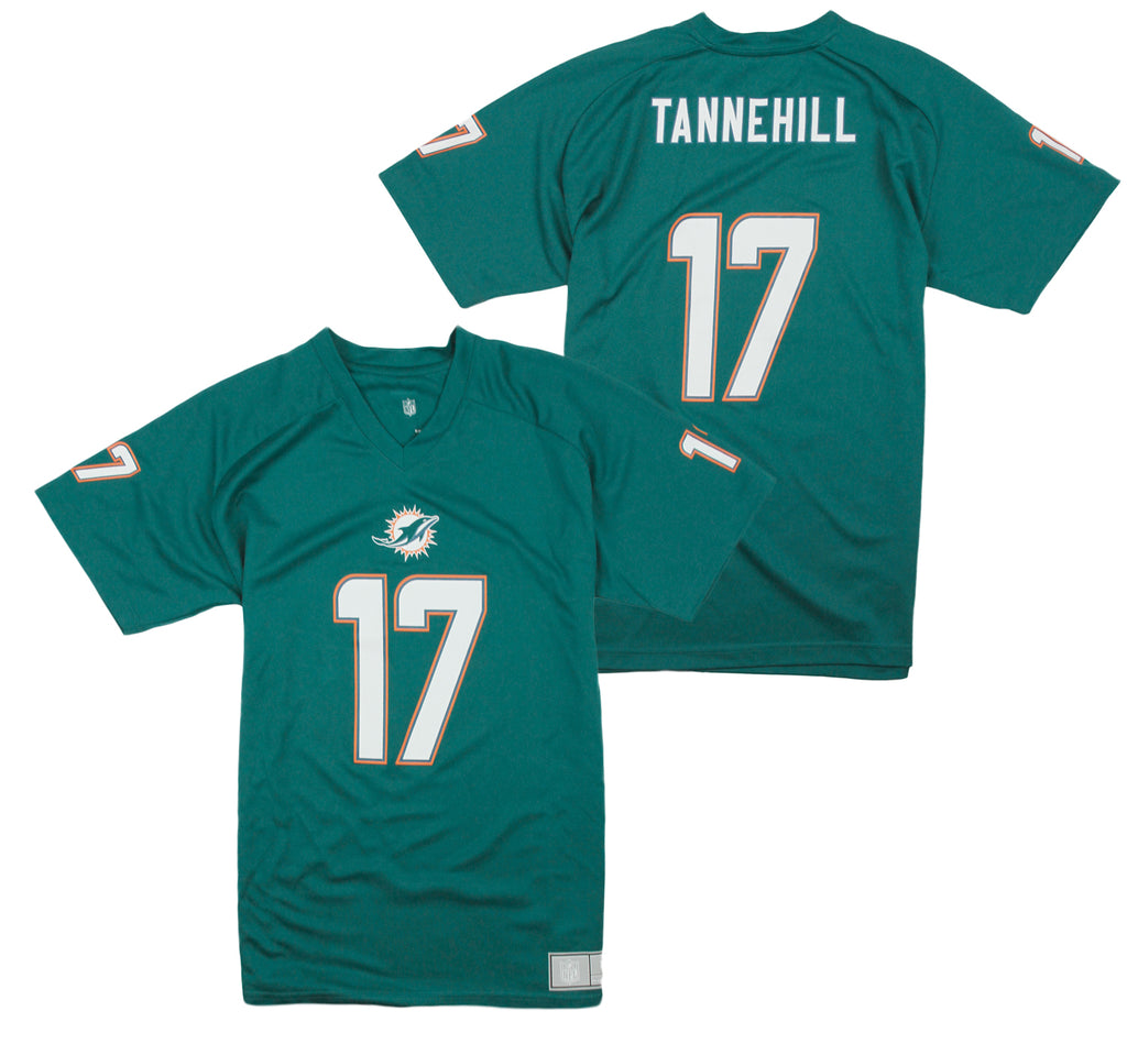new product 63b80 008b9 NFL Youth Miami Dolphins Ryan Tannehill # 17 Performance Jersey Tee - FLAWED