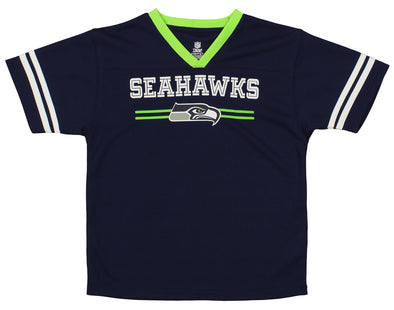 OuterStuff NFL Youth Boys Team Color Mesh Jersey, Seattle Seahawks