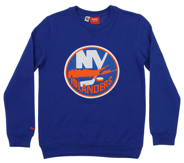 Reebok NHL Youth New York Islanders Prime Crew Neck Fleece, Blue