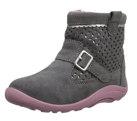 Stride Rite Toddler SRT Kinsey Casual Boot, Grey/Pink