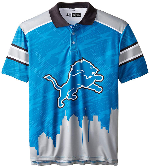 Forever Collectibles NFL Men's Detriot Lions Short Sleeve Thematic Polo Shirt