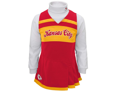 Outerstuff NFL Toddler Girls Kansas City Chiefs Cheer Jumper Dress