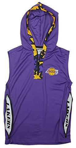 Zipway NBA Youth Los Angeles Lakers Dino 1/4 Zip Hooded Muscle Shirt, Purple
