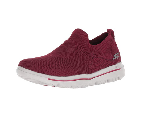 Skechers Women's Go Walk Evolution Ultra Sneaker, Raspberry