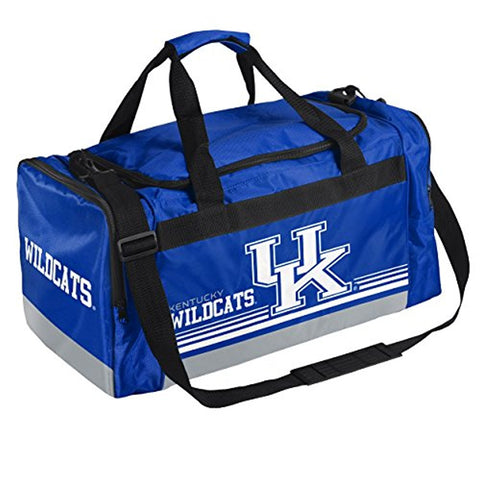 NCAA Kentucky Wildcats Striped Core Duffle Bag, Medium, Blue